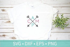 Camp Arrows SVG DXF EPS Silhouette Cut File