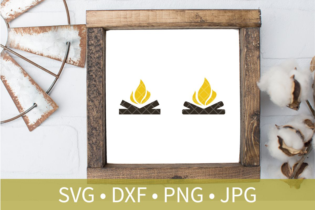 Campfire SVG DXF EPS Silhouette Cut File