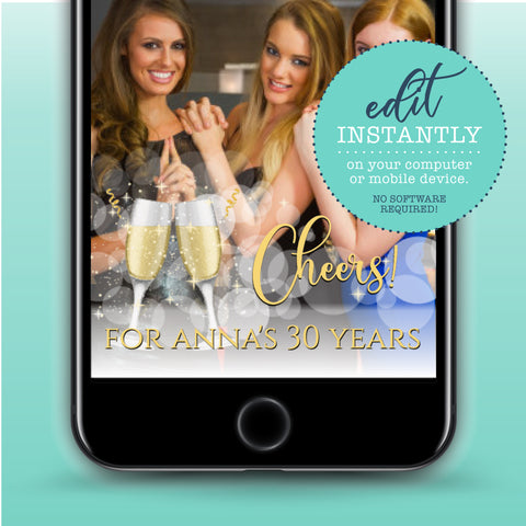 Champagne Toast Party Snapchat Geofilter