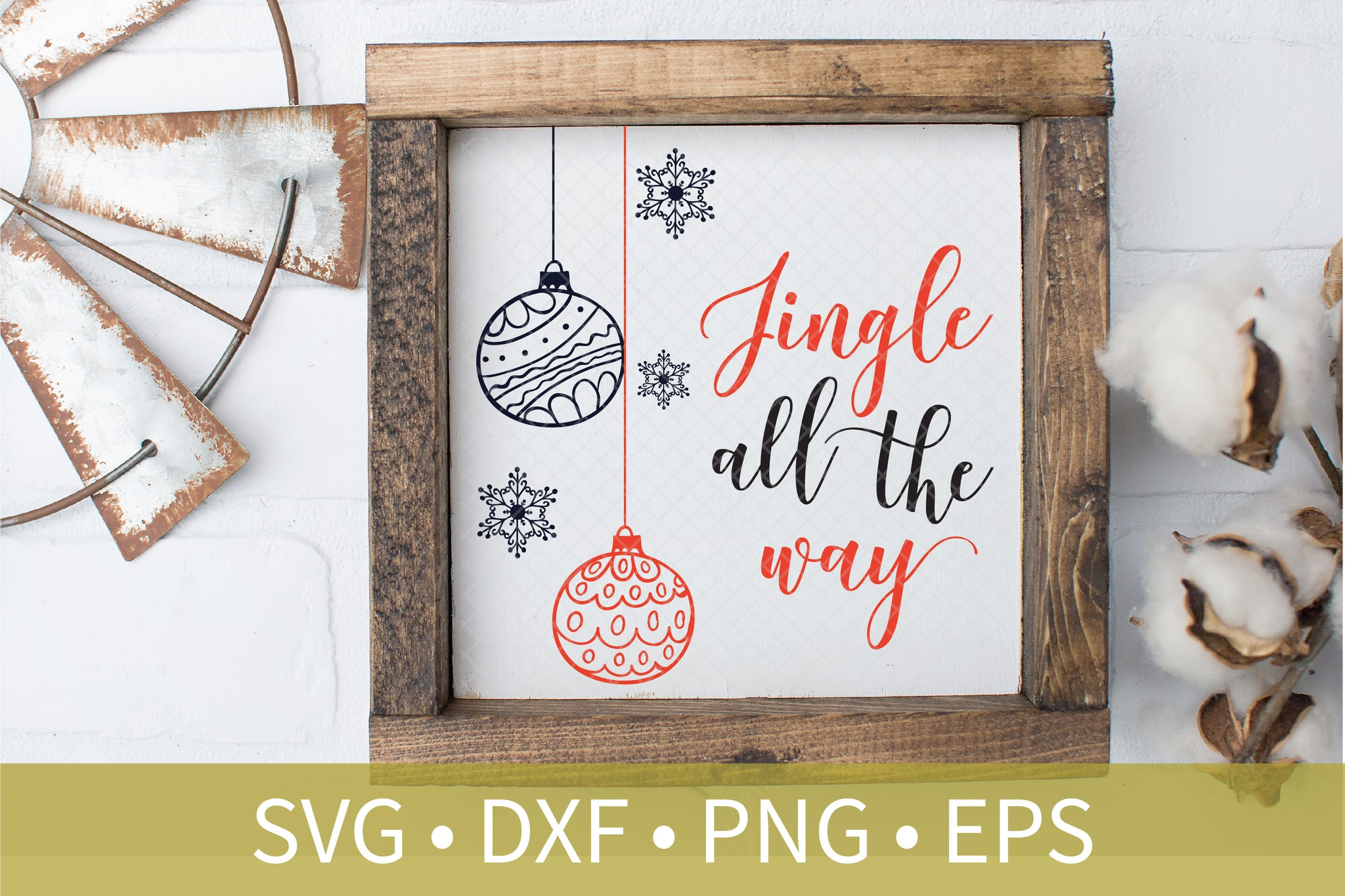 Jingle All The Way Christmas Bulb Ornament svg dxf eps png file - Christmas svg dxf clipart - Christmas Decor DIY Craft - Automatic Download
