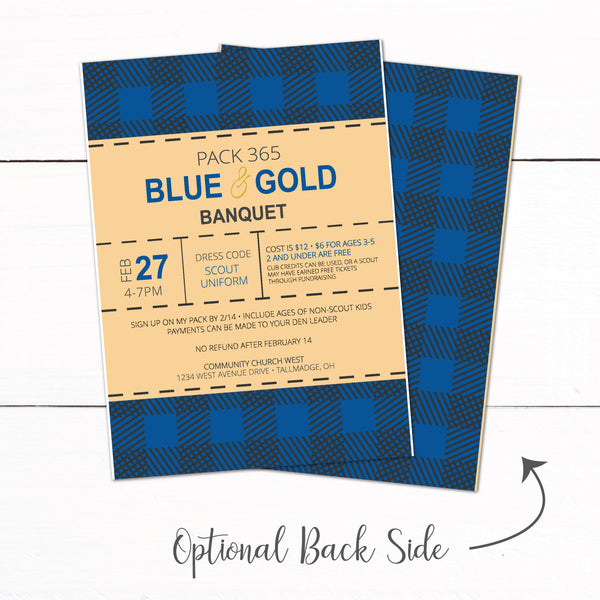 Cub Scout Blue and Gold Banquet Winter Campout Invitation
