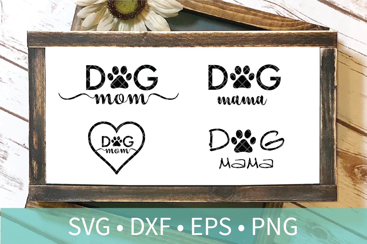 Dog Mom Paw SVG