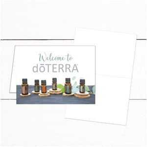 doTerra Thank You Instruction Card - Essential Oils Thank You Card - Wellness Advocate - Essential Oils - Rustic Wood - Essential Oil Kit