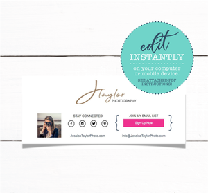 Custom Email Signature with Your Photo