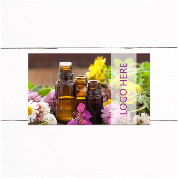 Essential Oils Business Card - Wellness Advocate Business Card - Oil Bottles Business Card