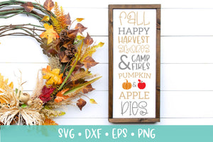 Tall Fall Sign SVG DXF PNG EPS Crafting File