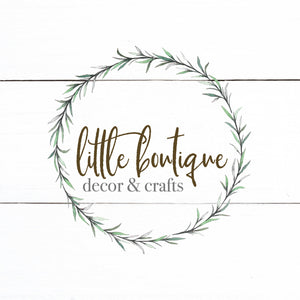 Farmhouse Rustic Logo - Predesigned Logo Customized With Your Information - Wreath Logo