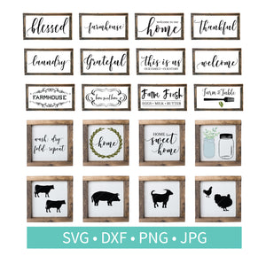 Farmhouse Sign Animals Quotes SVG Bundle
