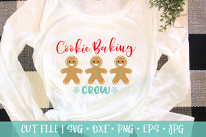 Gingerbread Man Cookie Baking Crew SVG DXF PNG Cut File
