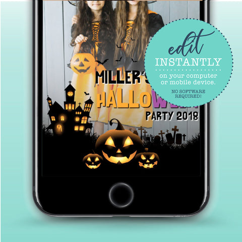 Halloween Party Snapchat Geofilter