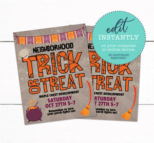 Halloween Trick or Treat Flyer Invitation