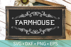Farmhouse Frame SVG DXF File