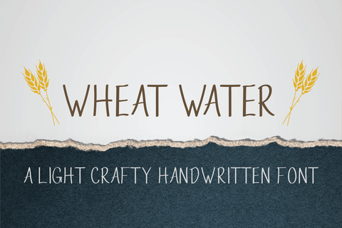 Wheat Water a Skinny Handwritten Font
