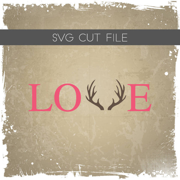 Love Antlers Silhouette File - Love Antlers SVG Cutting File