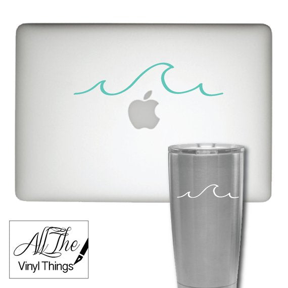 Ocean Wave Tumbler Laptop Cell Phone Car decal sticker - Ocean Wave Sticker - Beach Decal - Ocean Car Decal - Ocean Wave Laptop Decal - Wave Sticker