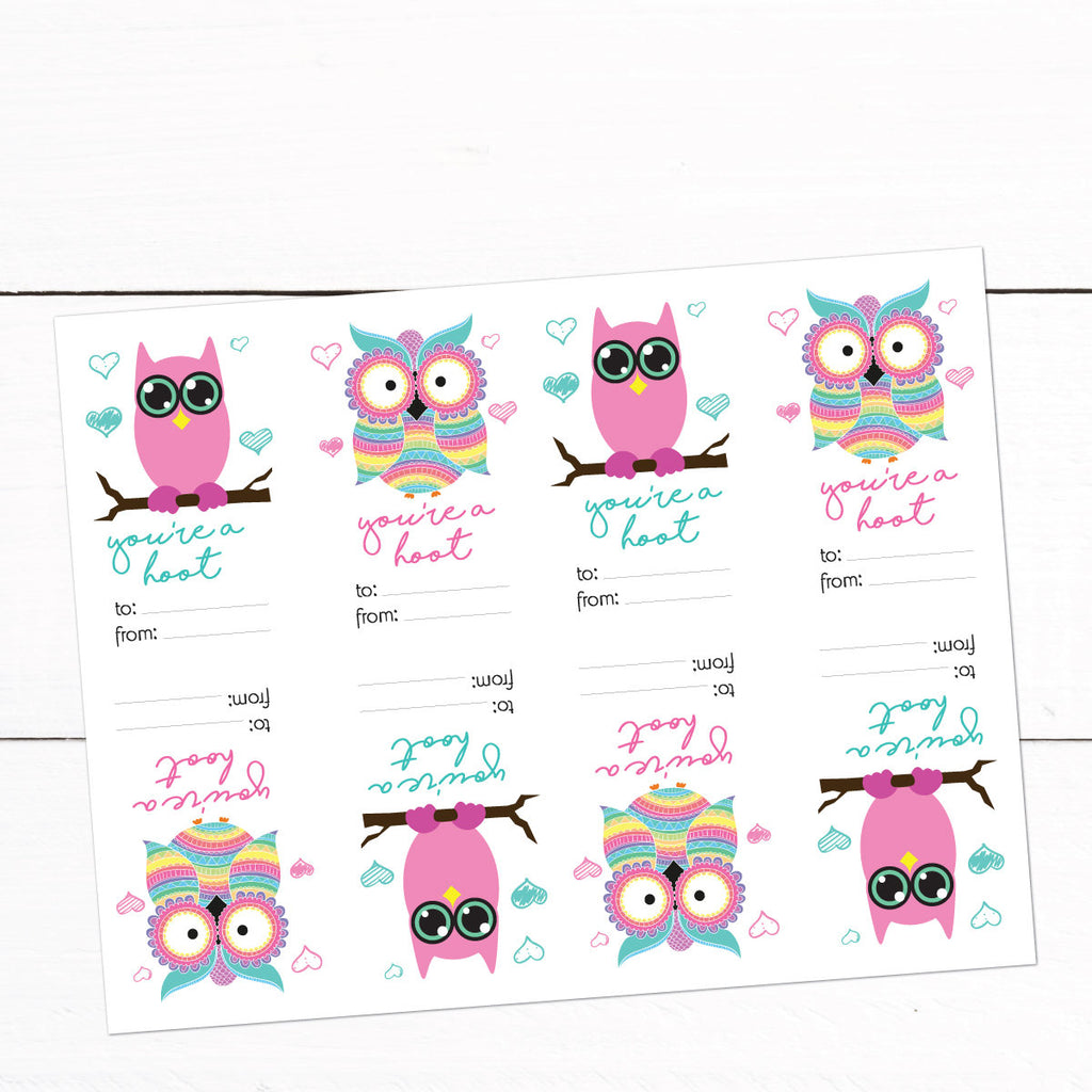 Owl Valentines Day Cards Kids Valentines Cards Printable