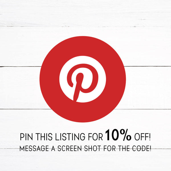 Pin The Main Listing Image to Get a 10% Off Code