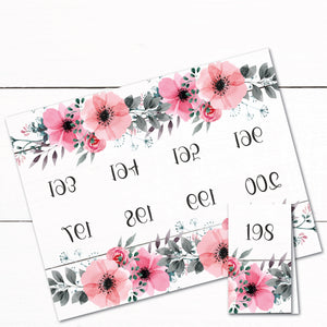 Reverse Number Tags - Mirrored Number Tags - Live Sale Numbers - Floral - Shabby Chic