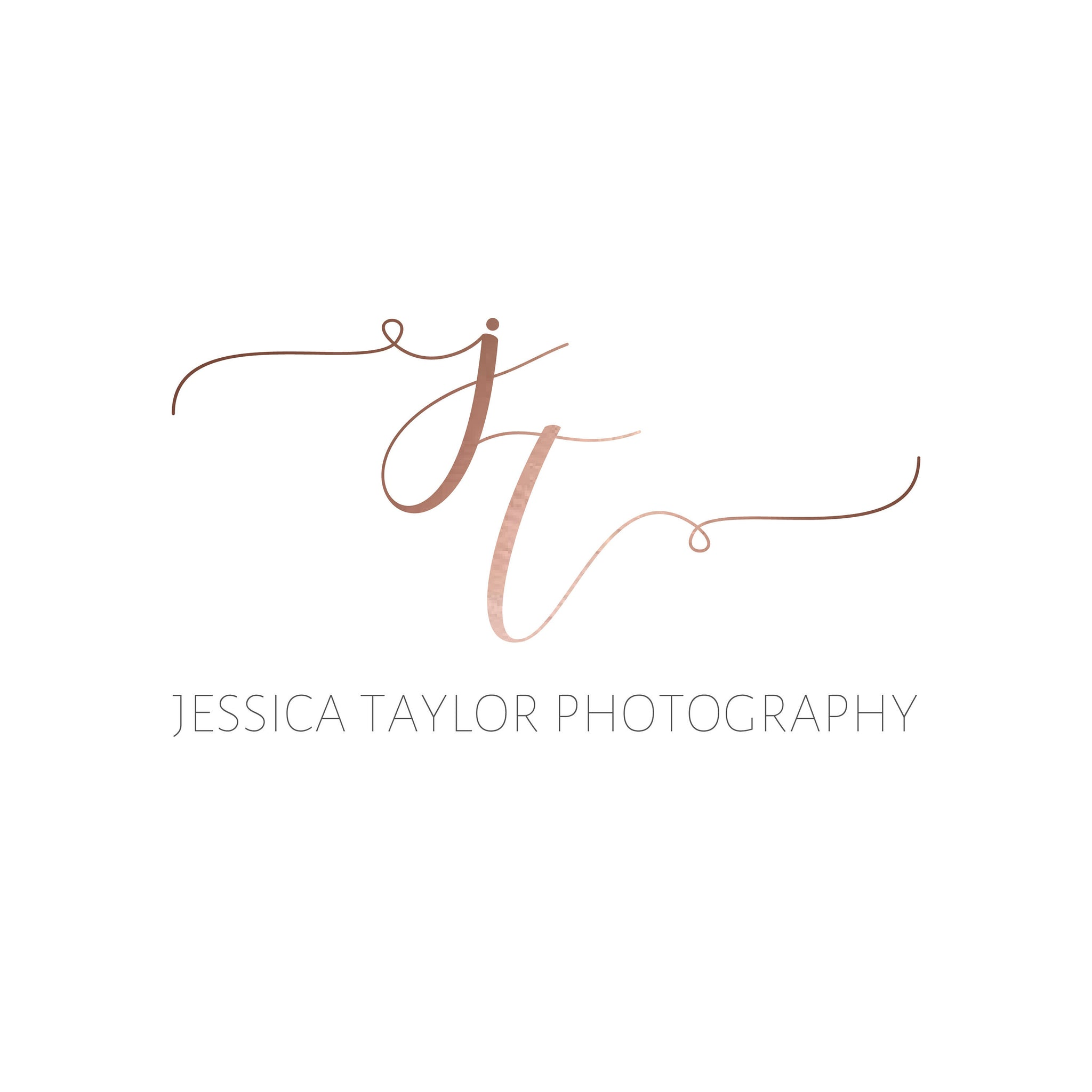 Rose Gold Logo - Calligraphy Logo - Initials Logo - Small Business Personal Logo Watermark