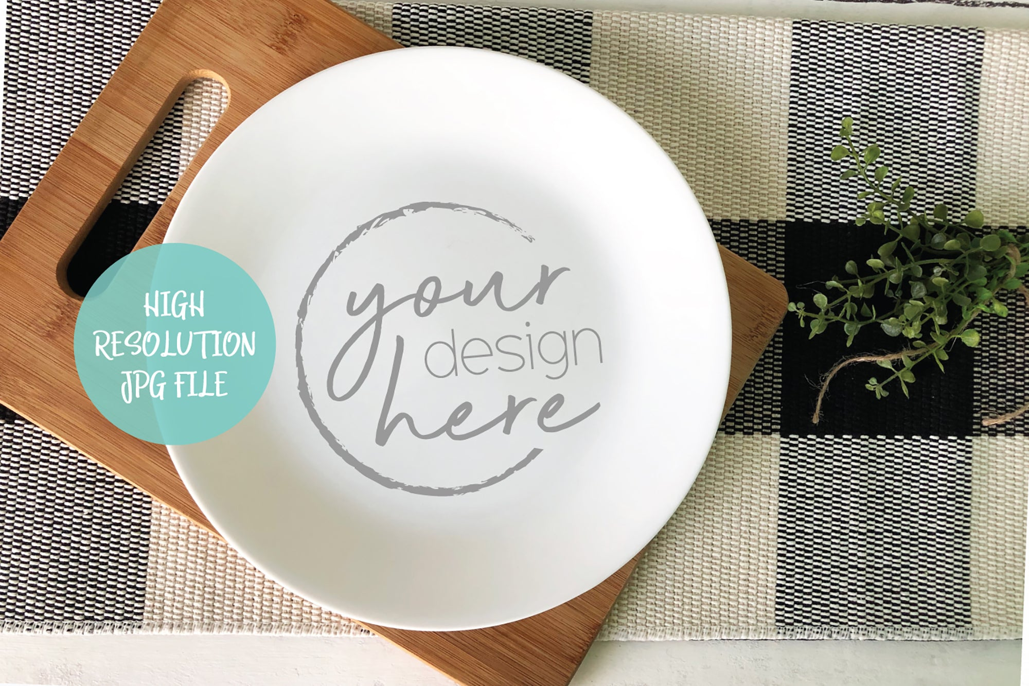 Round White Plate Mockup | Cookie Plate Mockup