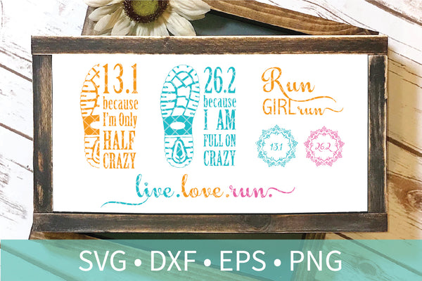 Running SVG DXF Silhouette Bundle - Running Cutting File Pack