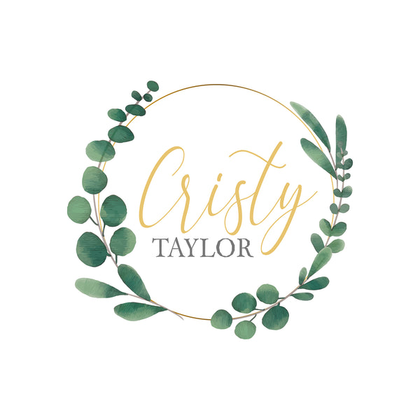 Watercolor Wreath Logo
