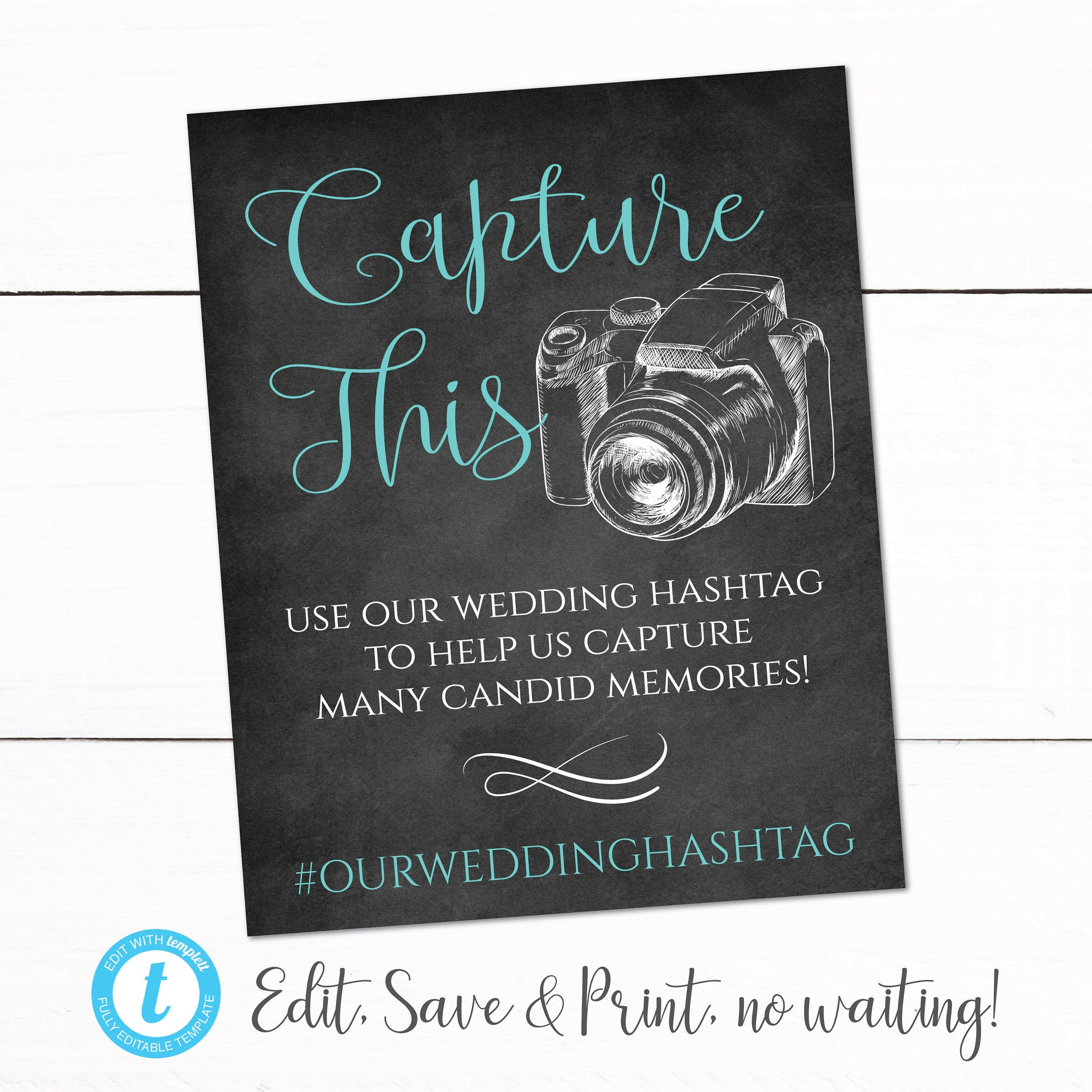 Wedding Hashtag Chalkboard Sign - Anniversary Hashtag Sign - Party Hashtag Sign Camera - Oh Snap Hashtag Sign - Wedding Event Welcome Sign