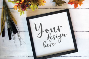 Fall Wood Sign Reverse Canvas Mockup