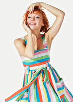 Multicolor Gussi Short Dress
