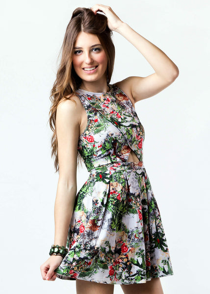 The Bebo Floral flute/bell Elegant Top
