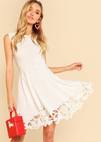 Fit & Flare Trim Dress