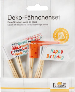 Deko-Fähnchen Happy Birthday