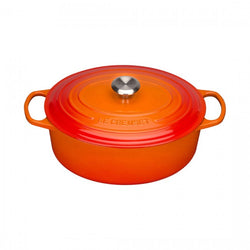 Le Creuset oval 33cm Bräter ofenrot