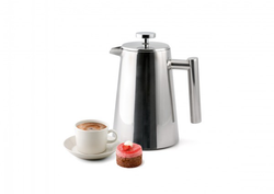 1,0 L Pressfilterkanne/French Press doppelwandig 1,0 L, Weis - Kochtail