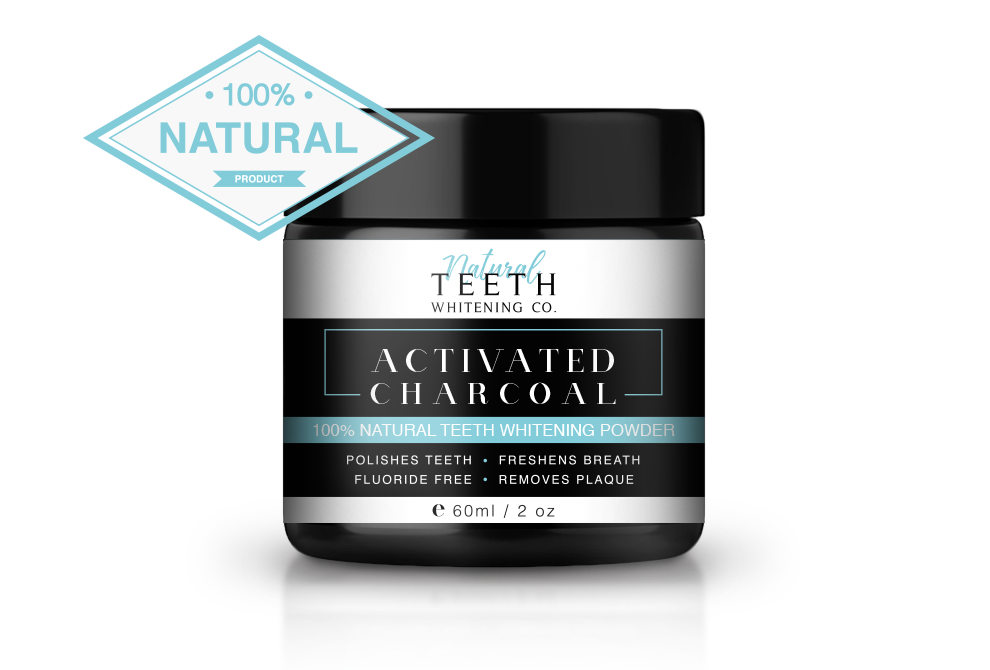 Natural Teeth Whitening 100% Natural Activated Charcoal Powder - 60ml (16 day treatment)