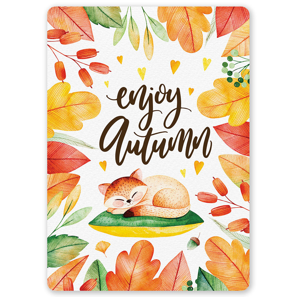 Enjoy Autumn Postcard