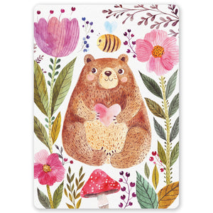 Autumn Bear Postcard