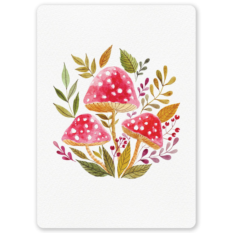 Autumn Toadstools Postcard