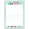 PRE-ORDER - A5 Blue Flower Notepad - Double Sided - Little Lefty Lou
