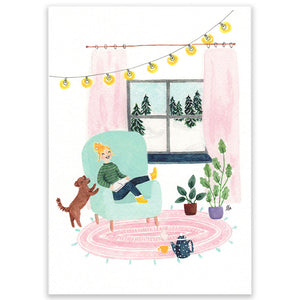 Cosy At Home Large Postcard - Little Lefty Lou