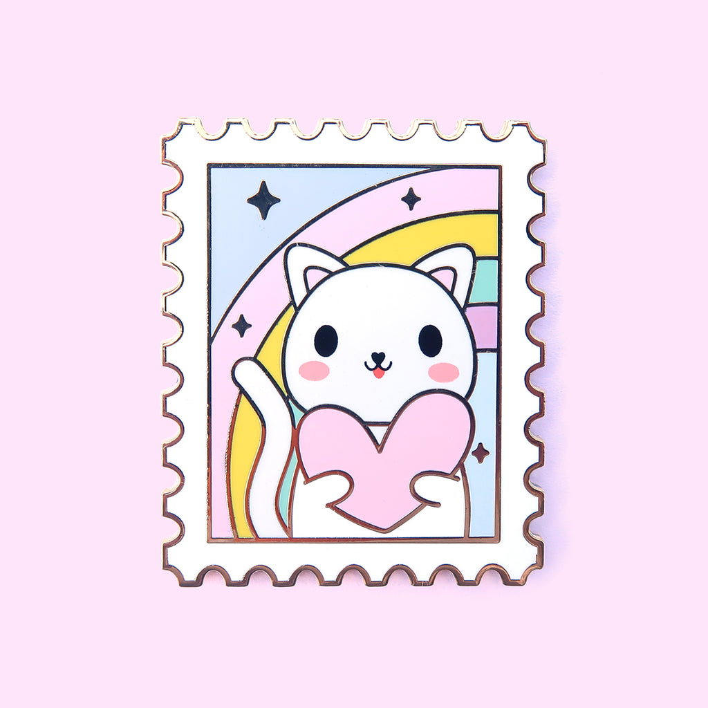 Cat Stamp Pin
