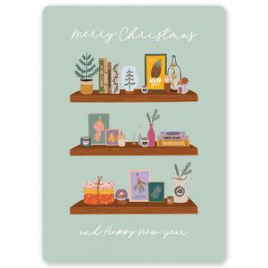 Christmas Shelves Postcard