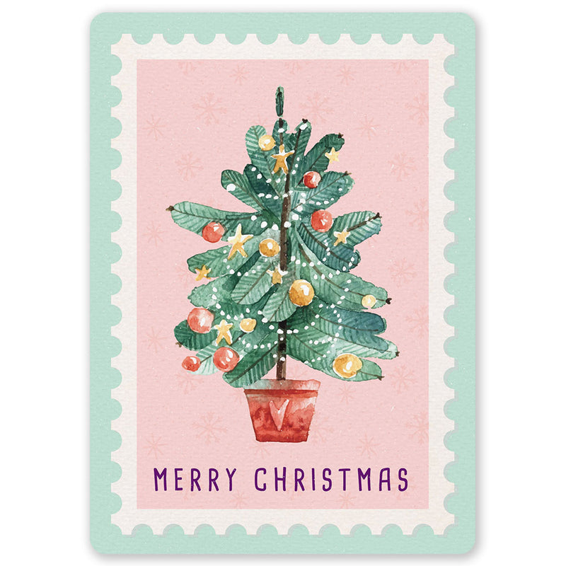 Christmas Tree Stamp Postcard