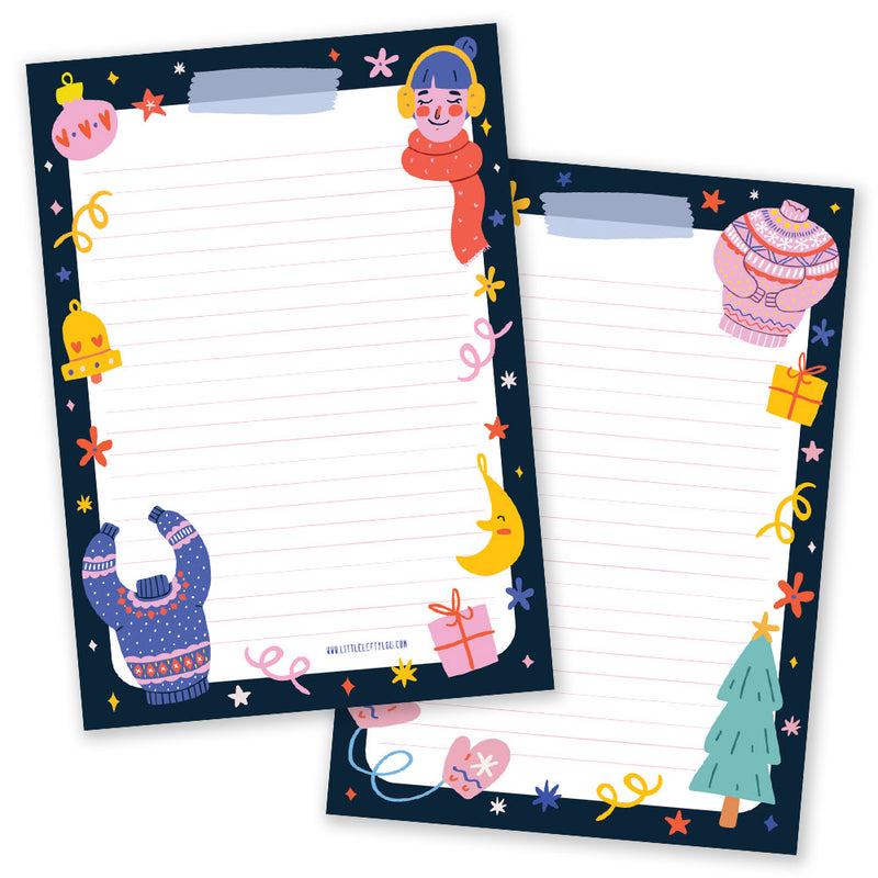 A5 Christmas Bright Notepad - Double Sided