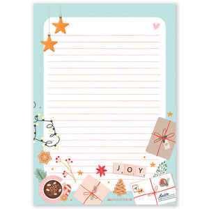 A5 Christmas Pastel Notepad - Double Sided