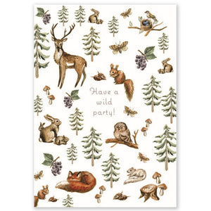 Woodland Party Double Card + Envelope