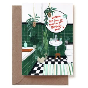 Birthday Suit Double Card + Envelope