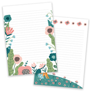 PRE-ORDER - A5 Flower Field Notepad - Double Sided - Little Lefty Lou