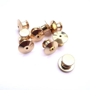 10 x Deluxe Golden Locking Pin Backs - Little Lefty Lou