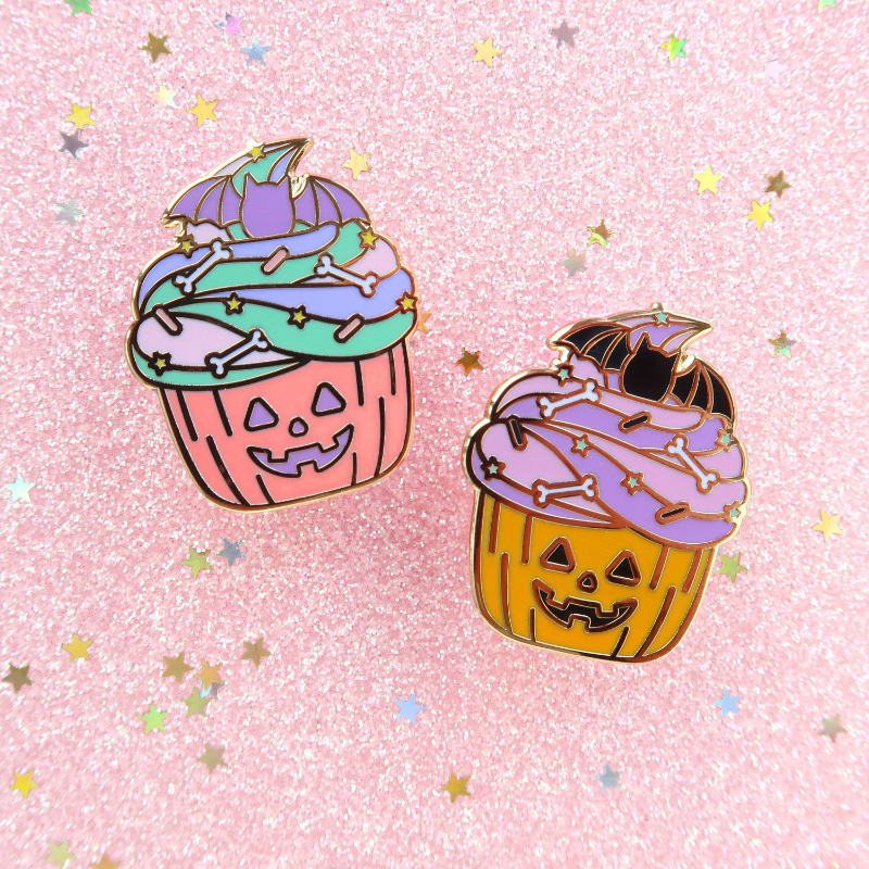 Halloween Cupcake Pin - Little Lefty Lou